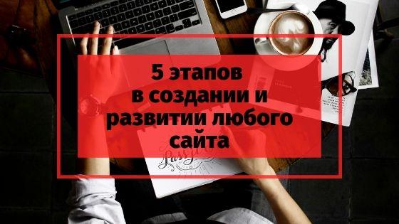 5 этапов в создании сайта для блога