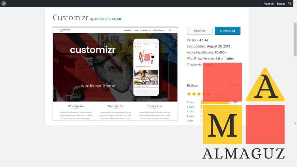 бесплатный шаблон для сайтов Вордпресс Customizr